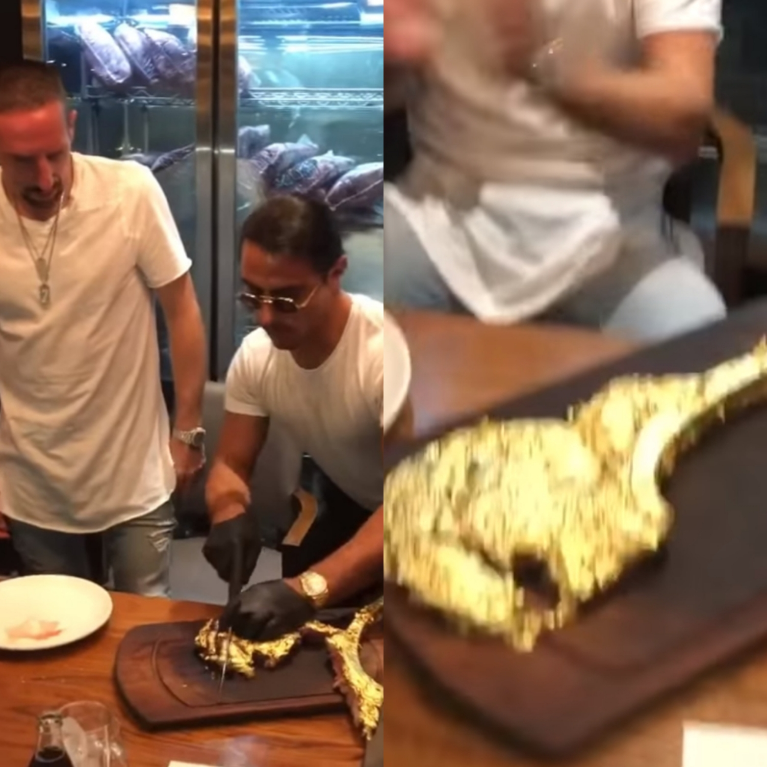 Vergoldetes Steak