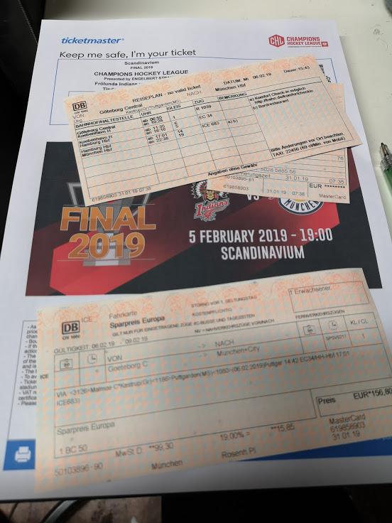 Frölunda Indians – EHC Red Bull München / Reisebericht Göteborg