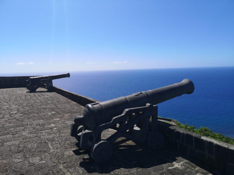 Ein Jahr zurück, Tag 6: St. Kitts – Festung Schwefelberg + Atlantik & karibisches Meer treffen sich